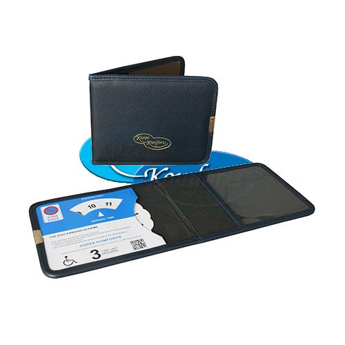 NEW Blue Plastic Disabled Badge Wallet