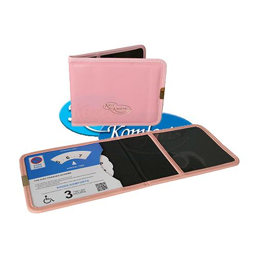NEW Pink Plastic Disabled Badge Wallet