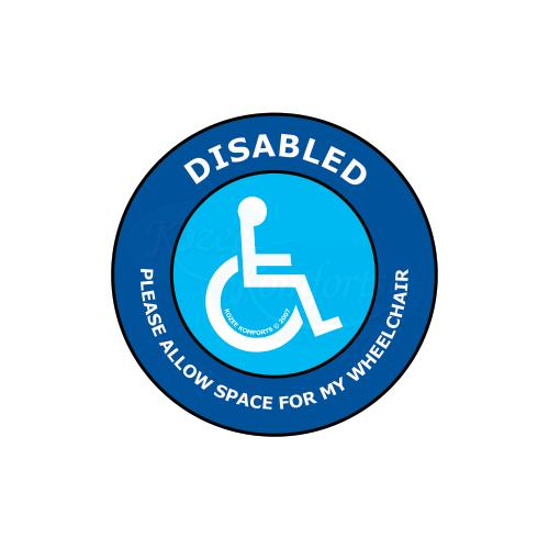Window Sticker Round Wheelchair