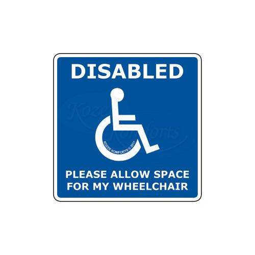 Window Sticker Square Wheelchair