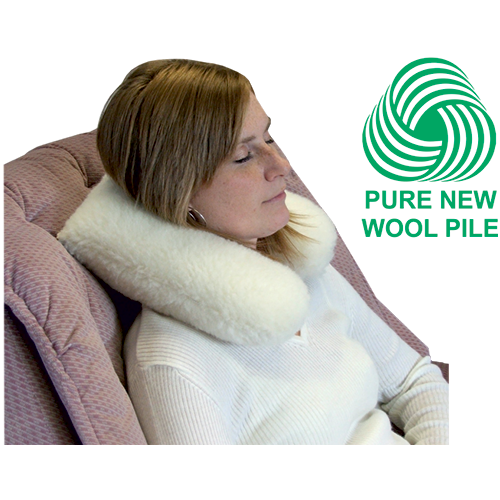 Wool Pile Neck Support Cushion