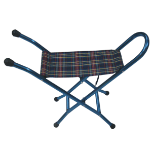 Blue Folding Aluminium Stick Seat
